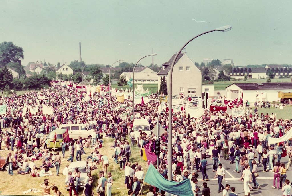 Friedensdemonstration in Bonn 1982